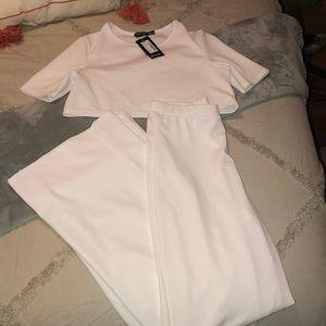 Crop top and pant set